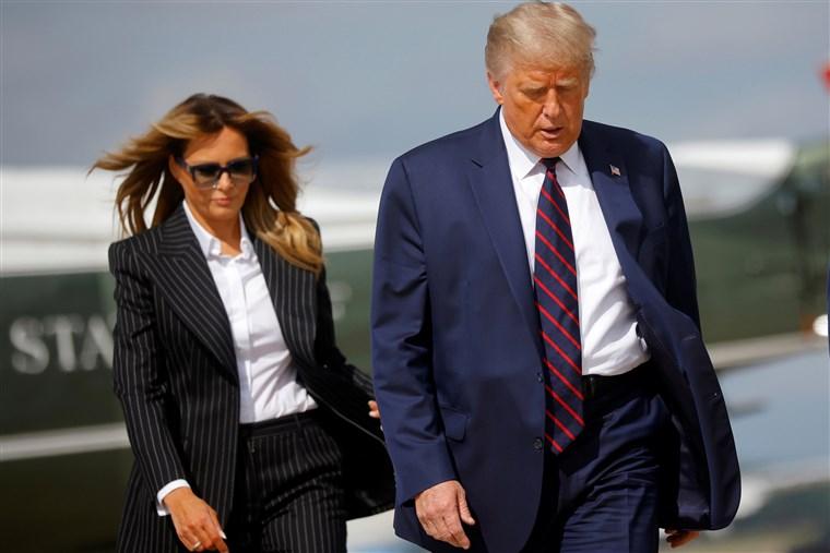 ترامپ و همسر ترامپ